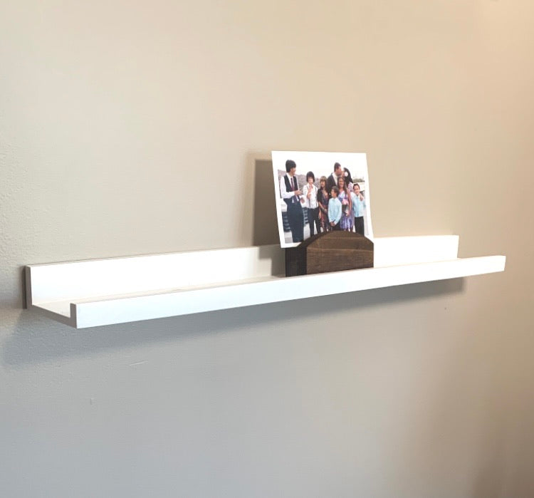 Rustic Wood Photo Display Stand