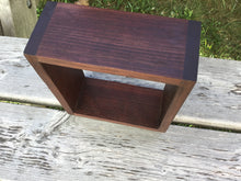 Cube Shelf - Floating Walnut Wall Shelf 7""