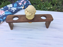 Wooden Ice Cream Cone Serving Tray - Walnut