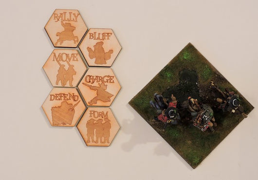 A002 Beneath the Lily Banners Order Markers - Warfare Miniatures USA