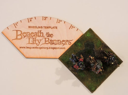 A003 Beneath the Lily Banners Wheeling Template - Warfare Miniatures USA