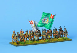 DB1 Danish Battalion Marching - Warfare Miniatures USA