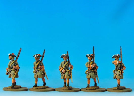 DN01 Danish Musketeers Marching - Warfare Miniatures USA