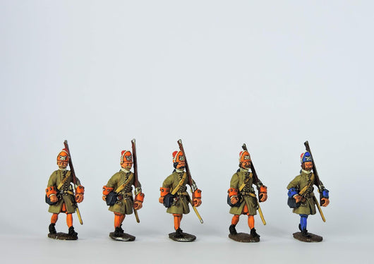 DN02 Danish Grenadiers Marching - Warfare Miniatures USA