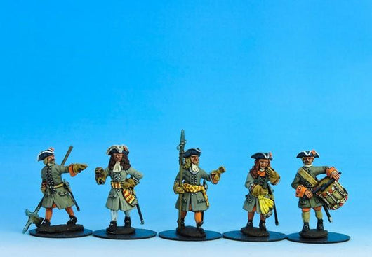 DN03 Danish Command Marching - Warfare Miniatures USA