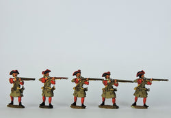 DN04 Danish Musketeers Firing - Warfare Miniatures USA