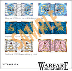 FC100 Dutch Cavalry Standards - Warfare Miniatures USA