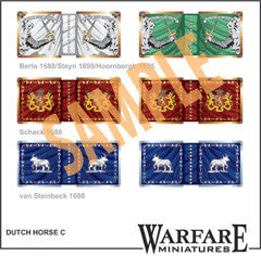FC102 Dutch Cavalry Standards - Warfare Miniatures USA
