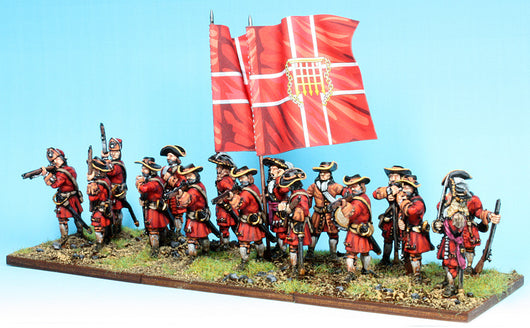 B002 Firing Line with Grenadiers in Mitre Caps (no pikes)