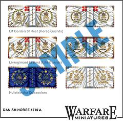 FD010 Danish Horse 1710 A - Warfare Miniatures USA