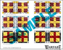 FR015 Streltsy Company Flags 2 - Warfare Miniatures USA