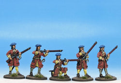 H001 Regulars or Militia in Bonnets - Warfare Miniatures USA