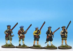 H002 Militia or Volunteers in Mixed Dress - Warfare Miniatures USA