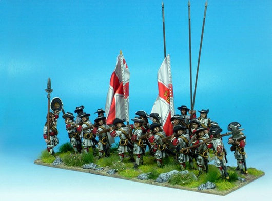 B005 Firing Line with Pikes (no grenadiers) - Warfare Miniatures USA