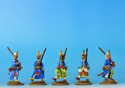 OT01 Janissaries - Advancing Full Dress - Warfare Miniatures USA