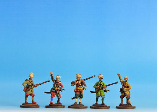 OT04 Janissaries - Loading Campaign Dress - Warfare Miniatures USA