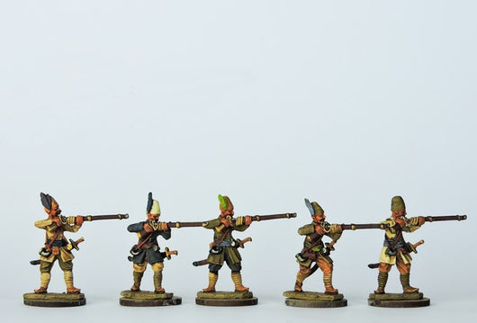 OT07 Tufeckci Musketeers Firing - Warfare Miniatures USA