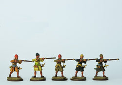 OT09 Sekban Musketeers Firing - Warfare Miniatures USA