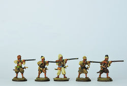 OT11 Bosniak or Irregular Musketeers Firing - Warfare Miniatures USA
