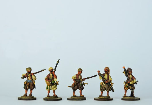 OT12 Bosniak or Irregular Musketeers Loading - Warfare Miniatures USA