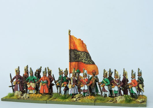 OTB02 Janissary Orta Full Dress Standing - Warfare Miniatures USA