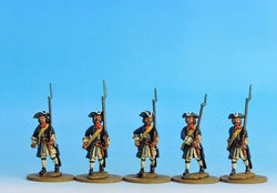 PN01 Prussian Musketeers Marching - Warfare Miniatures USA