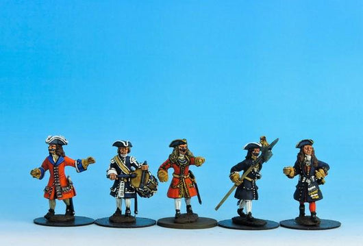 PN03 Prussian Command Marching - Warfare Miniatures USA
