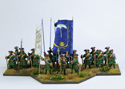 RB3 Russian Battalion At the Ready with Pikes - Warfare Miniatures USA