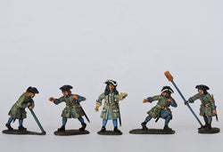 SA02 Swedish Artillery Crew Running Back Gun - Warfare Miniatures USA