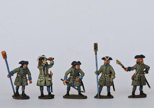 SA03 Swedish Artillery Crew Firing - Warfare Miniatures USA