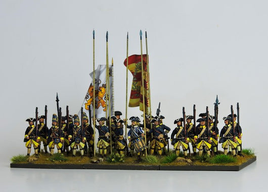 SB01 Swedish Battalion in Tricorn Standing Ready - Warfare Miniatures USA