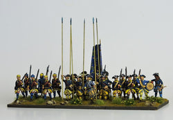 SB03 Swedish Battalion in Tricorn Marching - Warfare Miniatures USA