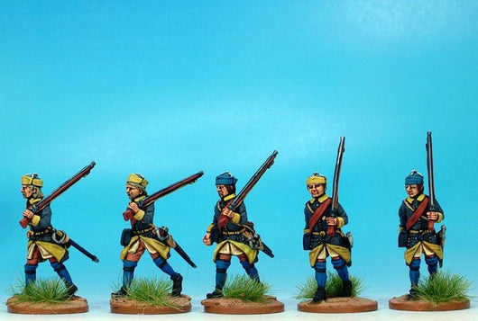 SB04 Swedish Battalion in Karpus Marching - Warfare Miniatures USA