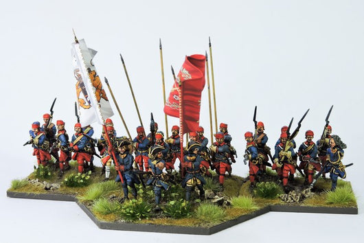SB06 Swedish Battalion in Karpus Attacking - Warfare Miniatures USA