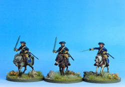 SC01 Swedish Cavalry Troopers Charging A - Warfare Miniatures USA