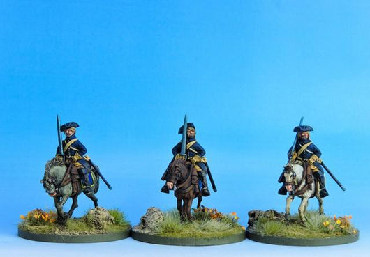 SC04 Swedish Cavalry Troopers at the Ready B - Warfare Miniatures USA