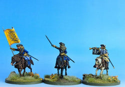 SC05 Swedish Cavalry Command Charging - Warfare Miniatures USA