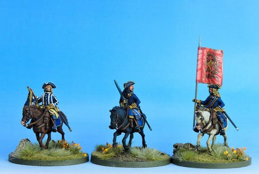 SC06 Swedish Cavalry Command at the Ready - Warfare Miniatures USA