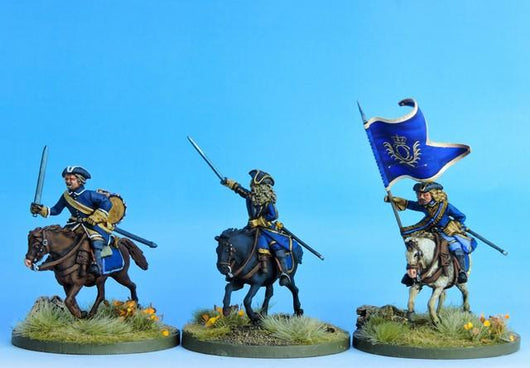 SC07 Swedish Dragoon Command Charging - Warfare Miniatures USA