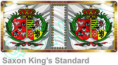 FSC007 Royal Standard of the King of Poland-Saxony - Warfare Miniatures USA
