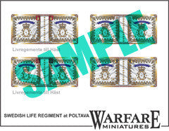 SCF003 Swedish Cavalry flags for Poltava - Warfare Miniatures USA
