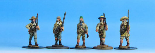 V03 Civilians with Matchlocks in Shirts - Warfare Miniatures USA