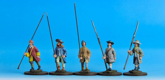 V04 Civilians with Open Hands in Coats - Warfare Miniatures USA