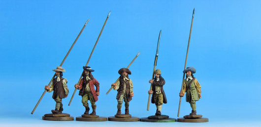 V05 Civilians with Open Hands in Waistcoats - Warfare Miniatures USA