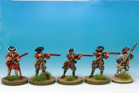 WLOA01 Musketeer Firing Line - Warfare Miniatures USA