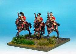 WLOA31 Cavalry Troopers on Galloping Horses - Warfare Miniatures USA