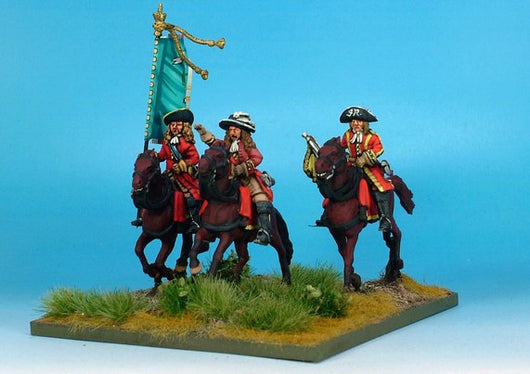WLOA33 Cavalry Command on Galloping Horses - Warfare Miniatures USA