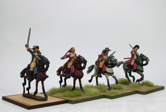 WLOA34 Enthusiastic Cavalry Troopers - Warfare Miniatures USA