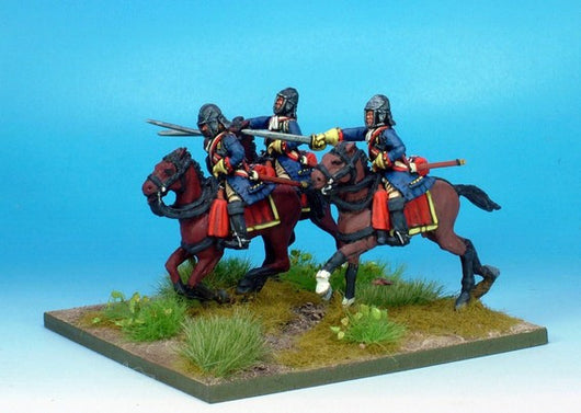 WLOA35b Cuirassiers in English Helmets on Galloping Horses