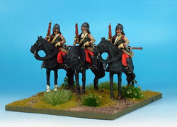 WLOA37a Cuirassiers in German Helmets on Standing Horses - Warfare Miniatures USA